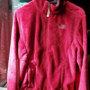 The north face osito 2 fuzzy magenta pink jacket